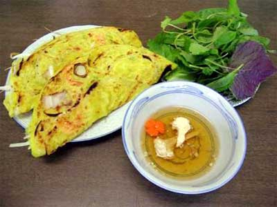 "A unique ""banh xeo"" in Vietnam"